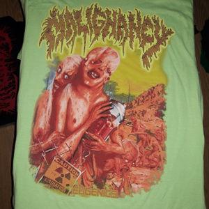 Rare MALIGNANCY Eugenics t shirt death metal